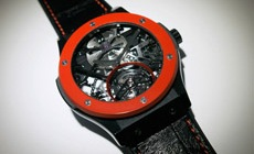 Часы Hublot Red-n-Black Skeleton Tourbillon