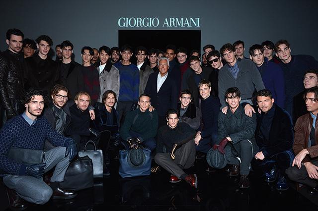 Неделя мужской моды в Милане: показ Giorgio Armani