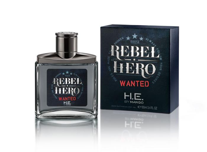 Новый мужской аромат Rebel Hero Wanted by H.E. Mango