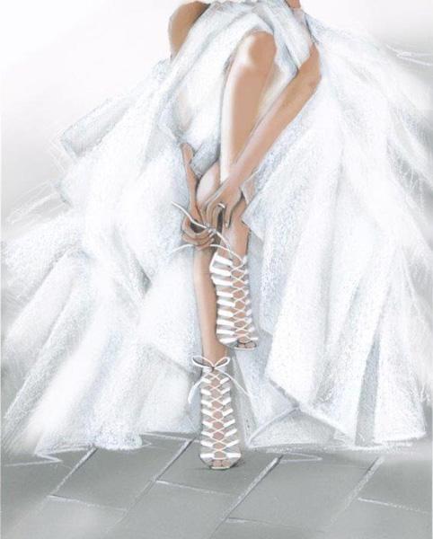 Свадебная модель босоножек Casadei