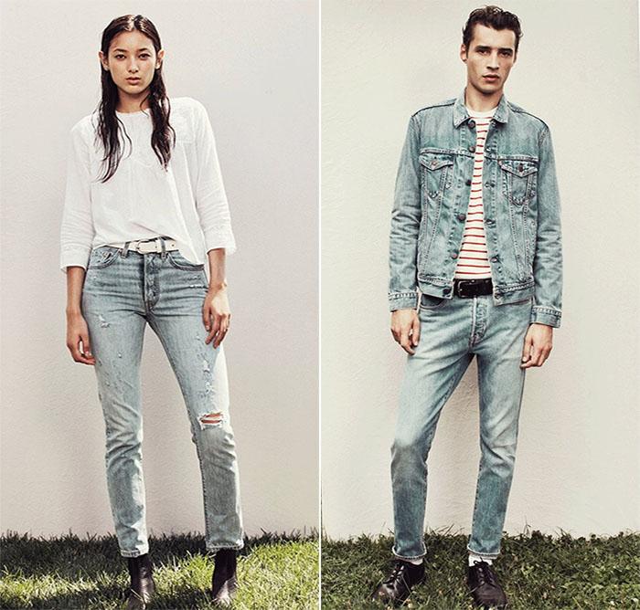 Levis представляет новые джинсы 501 Skinny