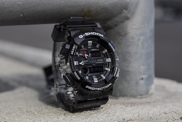 Casio G-SHOCK представляет прозрачные часы GAX-100MSB